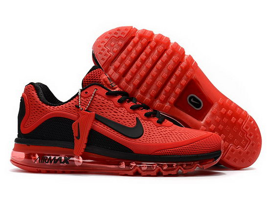 Mens Nike Air Max 2017.5 Red Black For Sale